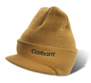 Knit Hat with Visor Carhartt Brown