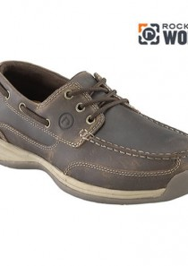Men's Sailing Club 3 Eye Tie Boat Shoe by Rockport