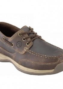 Women's Sailing Club 3 Eye Tie Boat Shoe – Brown by Rockport