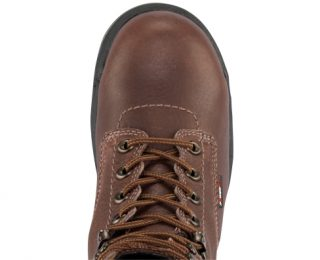 Women's Timberland PRO® TiTAN® WP 6-Inch Safety Toe - Dark Brown Top View