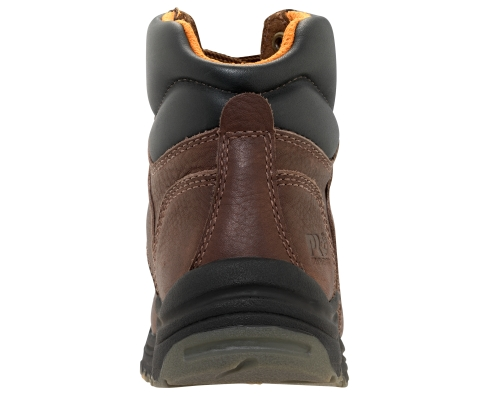 Women's Timberland PRO® TiTAN® WP 6-Inch Safety Toe - Dark Brown Heel View