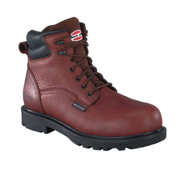 "Men's 6"" Brown Waterproof Work Boots by Iron Age"