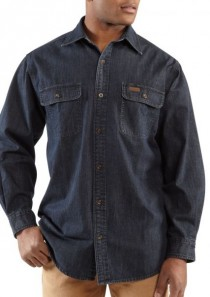 Men's Washed Denim Work Shirt by Carhartt