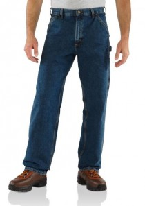 Men's Washed Denim Work Dungaree by Carhartt