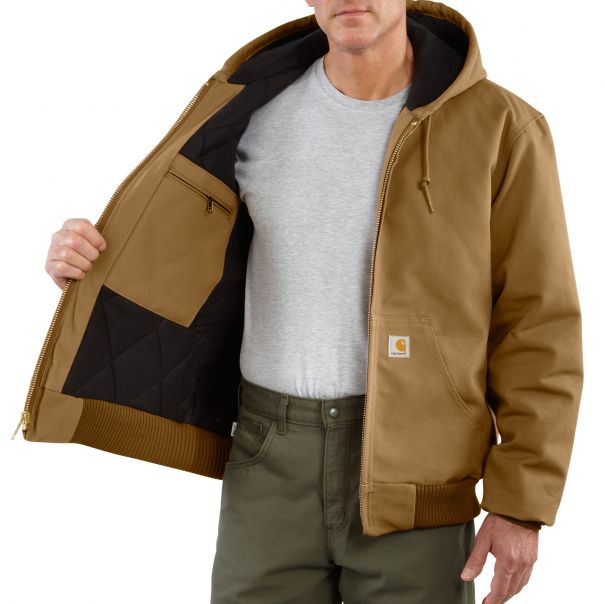 Men's Duck Active Jac/Quilted-Flannel Lined Inside