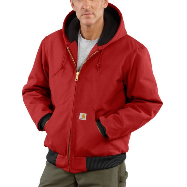 Men's Duck Active Jac/Quilted-Flannel Lined RED
