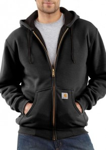 Men's Thermal-Lined Hooded Zip-Front Sweatshirt by Carhartt