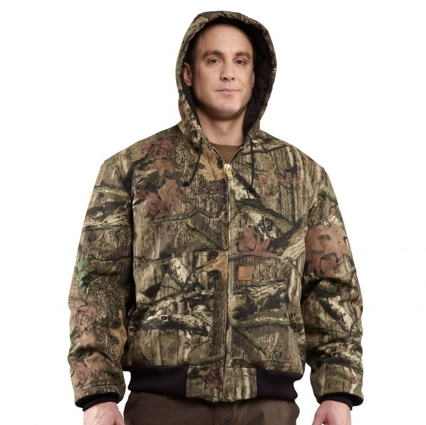 Quilted-Flannel Lined Camo Active Jac Front