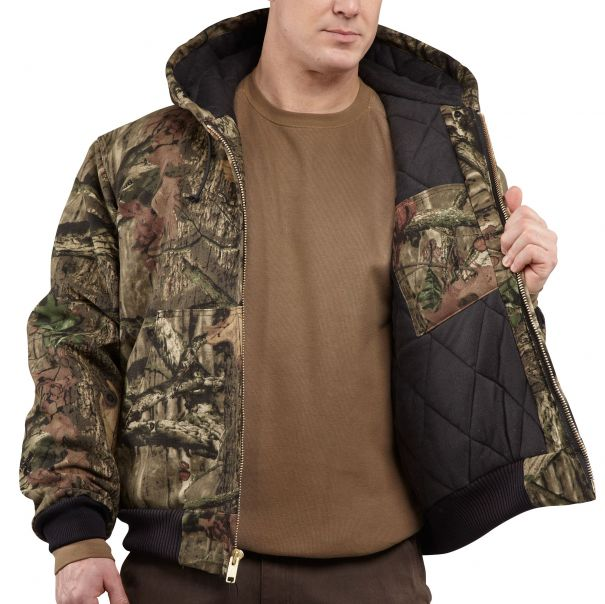 Quilted-Flannel Lined Camo Active Jac Inside