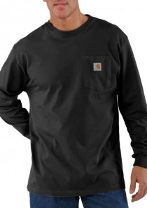 Men's Long Sleeve Workwear Pocket T-Shirt by Carhartt