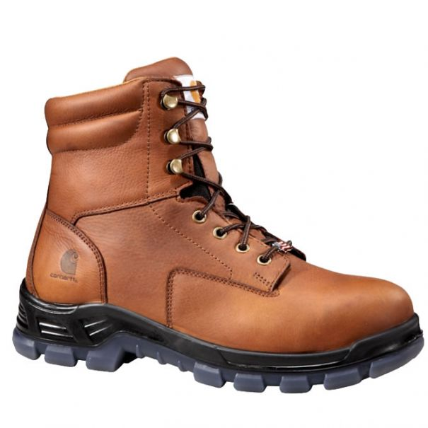 Men's 8 inch Brown Waterproof Work Boot Composite Toe by Carhartt