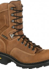 Men's 9 inch Comfort Core Logger Composite Waterproof Work Boot by Georgia