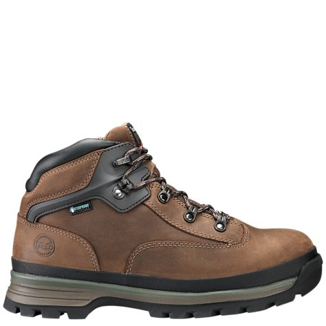 Men's Euro Hiker Alloy Toe Safety Shoe Brown by Timberland Side
