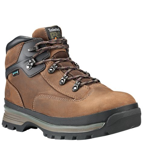 Men's Euro Hiker Alloy Toe Safety Shoe Brown by Timberland