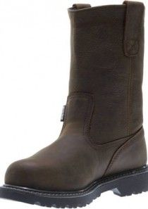 Women's Floorhand Waterproof Steel-Toe 10″ Wellington in Dark Brown by Wolverine