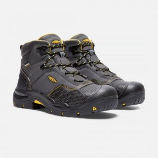 Men's Logandale Steel Toe Waterproof Work Shoe by Keen Side