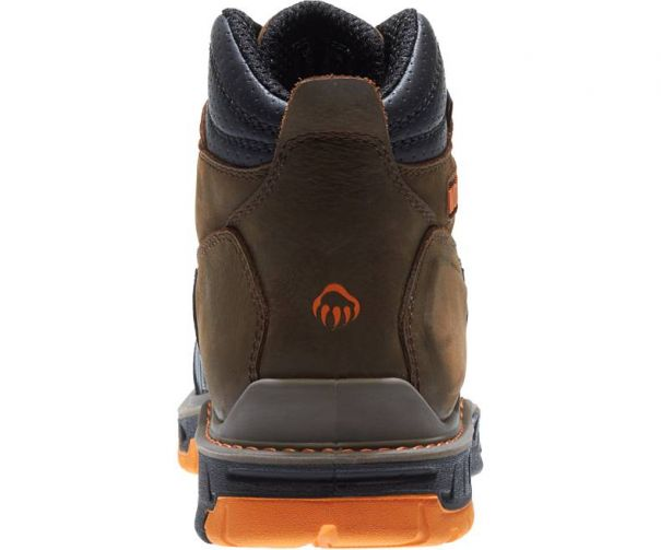 Men's Overpass Carbonmax Waterproof 6 Work Boot W010717 by Wolverine Back