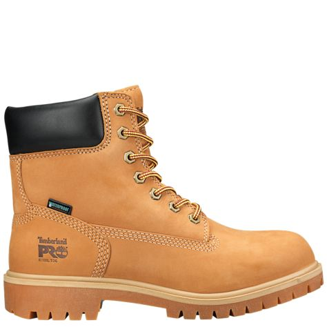 Women's 6 inch Direct Attach Steel Toe Safety Boot - Brown by Timberland Side