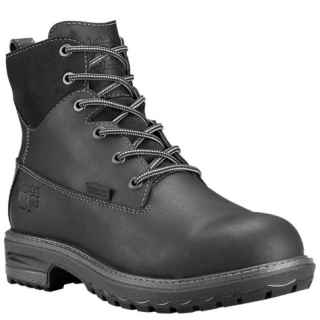 Women's 6 inch Hightower Alloy Toe Safety Boot - Black by Timberland