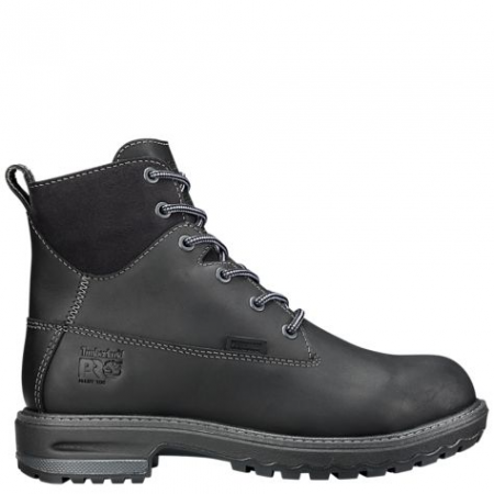 Women's 6 inch Hightower Alloy Toe Safety Boot - Black by Timberland side