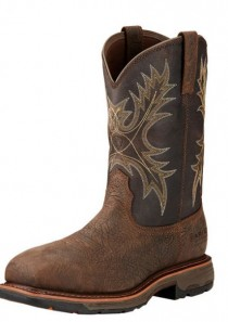 Workhog Pull-on H2O Composite Toe in Brown by Ariat