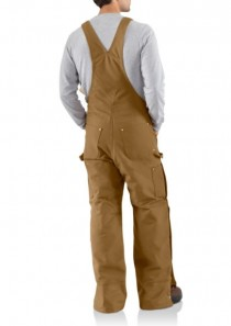 Men's Duck Zip-to-Thigh Bib Overall/Quilt Lined by Carhartt
