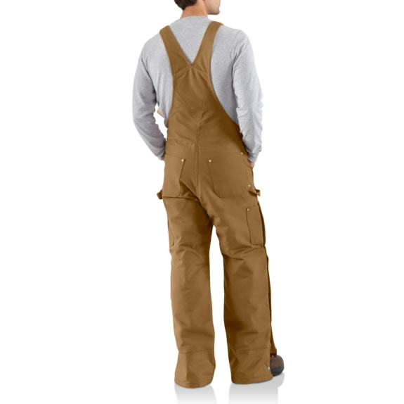 Duck Zip-to-Thigh Bib Overall Quilt Lined by Carhartt Back