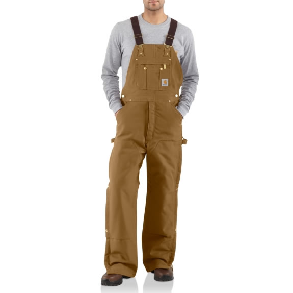 Duck Zip-to-Thigh Bib Overall Quilt Lined by Carhartt Front