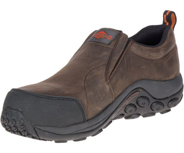 Men's Jungle Moc Comp Toe Work Shoe by Merrell Work Side