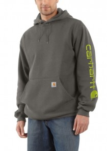 Men's Midweight Hooded Logo Sweatshirt by Carhartt