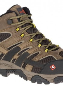 Men's Moab 2 Vent Mid Waterproof Comp Toe Work Shoe by Merrell Work