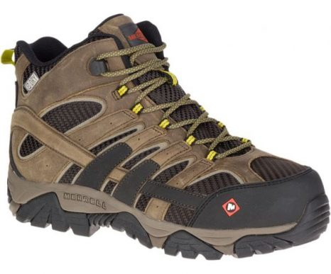 Mens Moab 2 Vent Mid Waterproof Comp Toe Work Shoe by Merrell Work