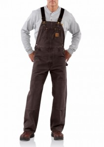 Men's Sandstone Bib Overall/Unlined by Carhartt
