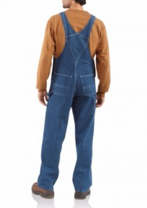 Men's Washed Denim Bib Overall/Unlined by Carhartt