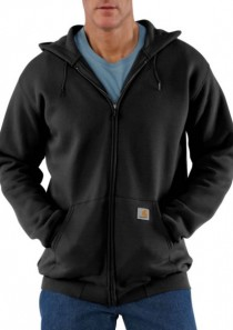 Men's Midweight Hooded Zip-Front Sweatshirt by Carhartt