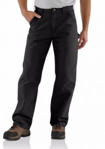 Men's Washed Duck Work Dungaree Black by Carhartt