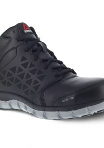 Men's Sublite Cushion Mid Work Shoe – Black by Reebok