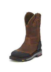 Men's Warhawk Chestnut Square Composite Toe Work Boot by Justin Work