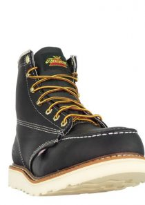 Men's American Heritage – 6″ Black Safety Toe – Moc Toe Maxwear Wedge by Thorogood Boots
