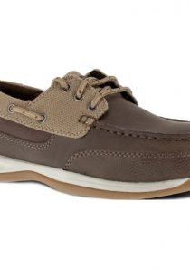 Women's Sailing Steel Toe Boat Shoe – Brown and Tan by Rockport