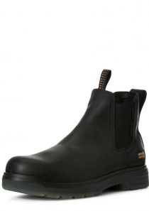 Turbo Chelsea Waterproof Carbon Toe Work Boot in Black by Ariat