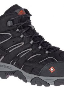 Men's Moab Vertex Mid Waterproof Comp Toe Work Boot by Merrell