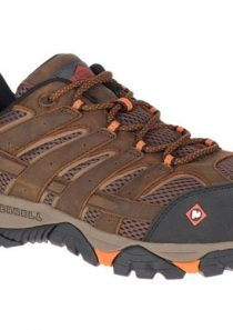 Men's Moab Vertex Vent Comp Toe Work Shoe in Brown by Merrell