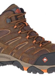 Men's Moab Vertex Mid Waterproof Comp Toe Work Boot in Brown by Merrell