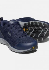 Men's Sparta Aluminum Toe Safety Shoe Mood Indigo/Steel Grey by Keen Utility