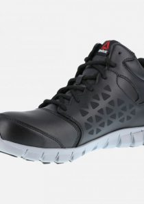 Men's Sublite Athletic Waterproof Mid-Cut – Black and Grey by Reebok