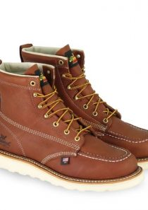 Men's American Heritage – 6″ Tobacco Safety Toe – Moc Toe Maxwear Wedge by Thorogood Boots