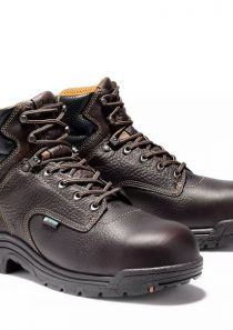 "Men's Titan 6"" Comp Toe Work Boots in Dark Brown by Timberland PRO®"