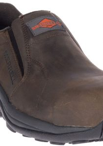 Men's Jungle Moc Leather Comp Toe Work Shoe (Brown) by Merrell